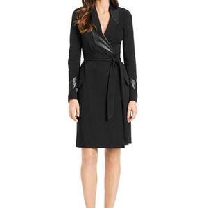 DVF glam leather wrap dress